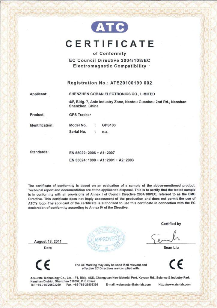 nos certificats butkm gps pour voiture maroc